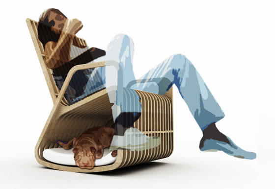 Paul Kweton's Rocking-2-Gether pet bed and rocking chair 4