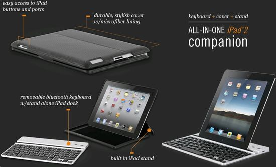 Zagg Zaggfolio All-in-One for iPad 2