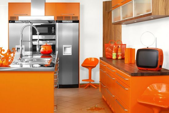 Modular Orange Kitchen1