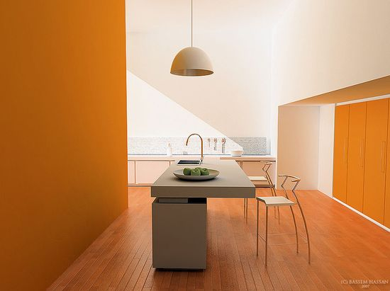 Modular Orange Kitchen 10