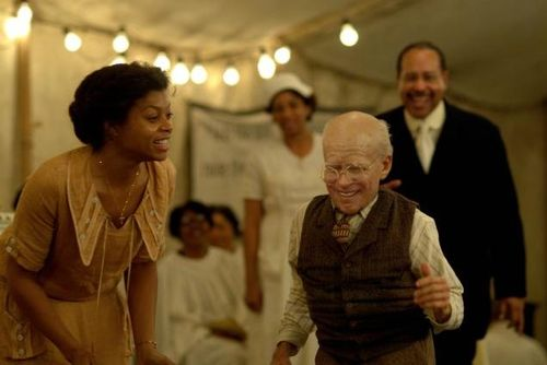 In the film 'The Curious Case of Benjamin Button', Brad Pitt is born 'old', but gets young as he de-ages. Does that make any sense.
