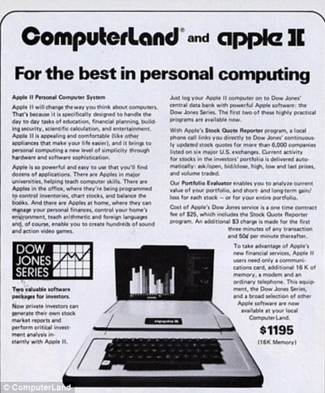 Old Computerland ad promoting the Apple II. I never used such pathetic piece of junk in my life.