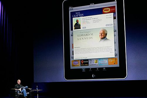 Apple's Steve Jobs talks about reading eBooks on the iPad