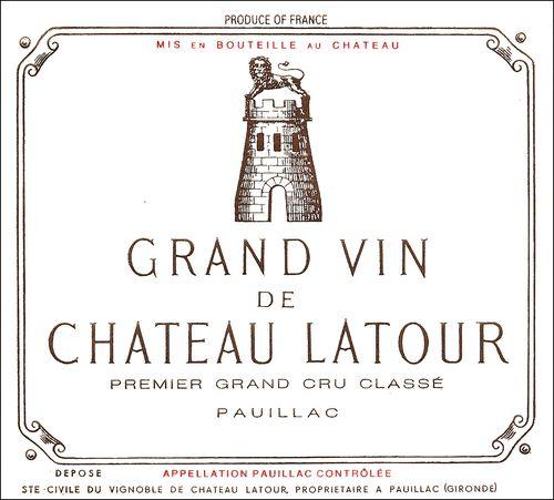 Grand Vin de Chateau Latour, Premier Grand Cru Classe, Paullac