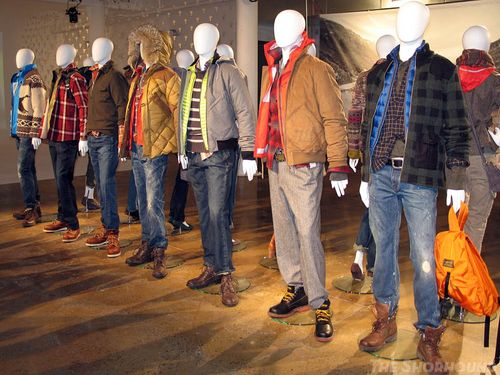 Nigel Cabourn designed the new quiltted jackets sweaters, footwear and thinner and more youthful jeans for Eddie Bauer's Fall 2011 collection