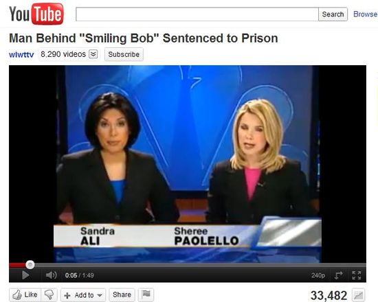 The man behind 'Smiling Bob' sentenced to prison for 25 years. CLICK TO RUN VIDEO