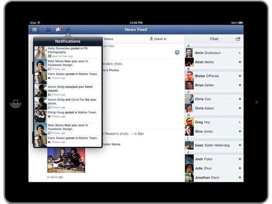 Facebook for iPad, Navigate anywhere, fast 2