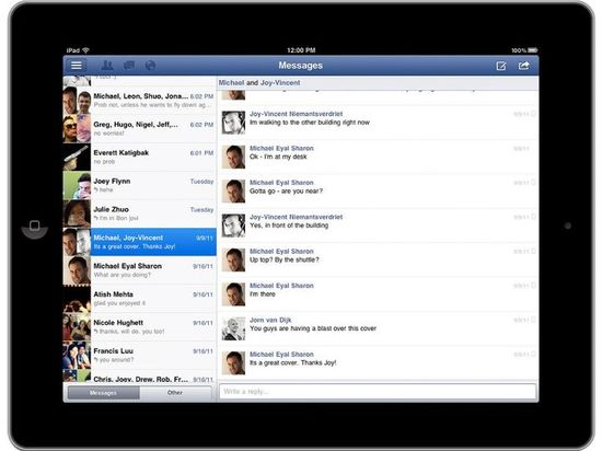 Facebook for iPad, Chat, games and other features
