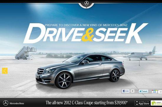 Mercedes-Benz Drive & Seek game