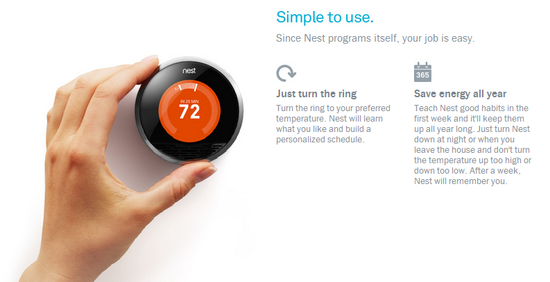 Nest is simple to use
