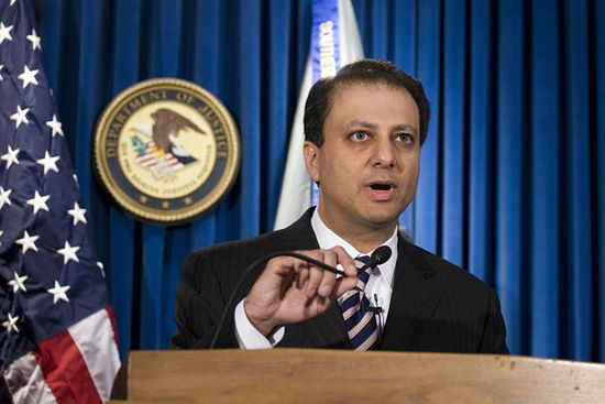 U.S. Attorney Preet Bharara will represent the U.S. government in the insider information case against Raj Gupta