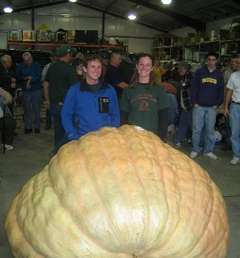 Christy Harp brought a 1,725 pound pumpkin to the Ohio Valley Giant Pumpkin Growers  (OVGPG) Giant Pumpkin Weigh-Off on Saturday, October 3, 2009.