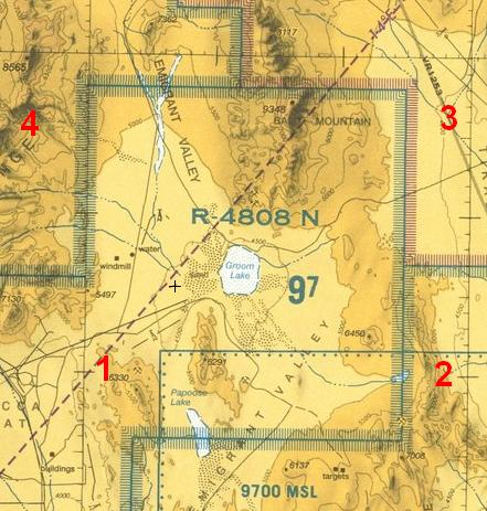Sector R 4808 N houses Area 51 and S-4 and is completely offlimits to all unauthorized air traffic