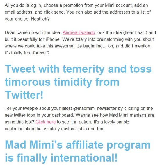 MadMimi Themes - Month of November News 2