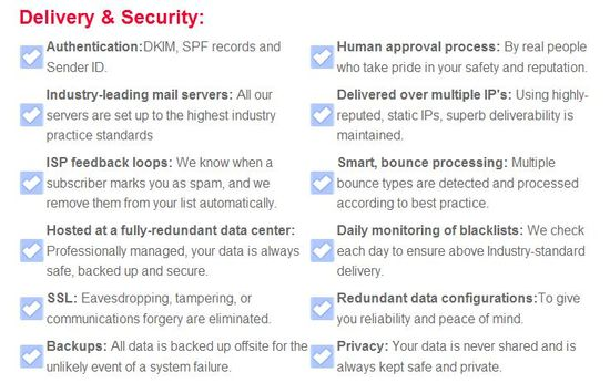 MadMimi Delivery & Security