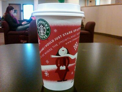 Starbucks holiday coffee cups