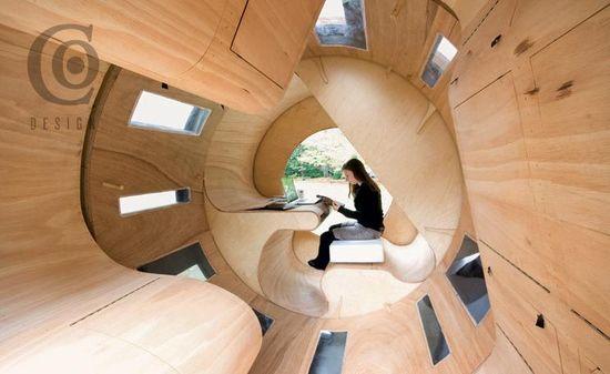Roll-It Institut fur Entwerfen und Bautechnik University of Karlsruhe, Germany, 6 ft., 6 inch x 10 ft (Interior View)
