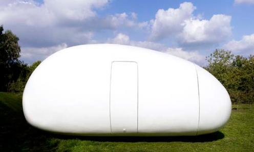 Blob dmvA Architecten, Antwerp, Belgium, 215 sq. ft. (Fully-closed Egg View)
