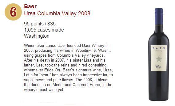 Wine Spectator's Top 10 Wines for 2011 - No 6