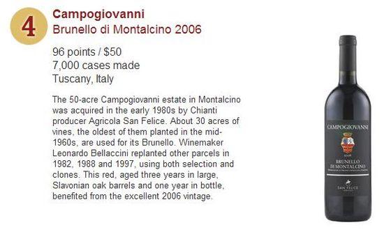Wine Spectator's Top 10 Wines for 2011 - No 4