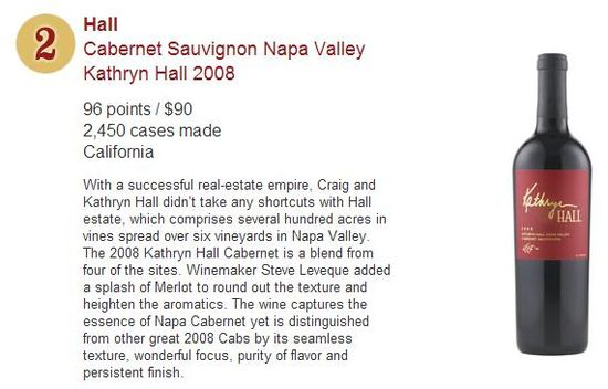 Wine Spectator's Top 10 Wines for 2011 - No 2
