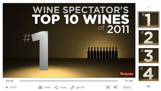 Wine Spectator's Top 10 Wines of 2011 Video