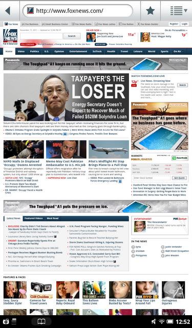 B&N Nook Tablet Web Browser