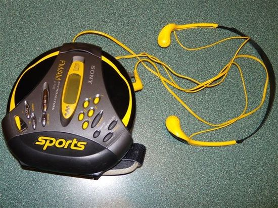 Antique Sony-Walkman Sports CD portable music player was waterproof and I used it to workout and jog