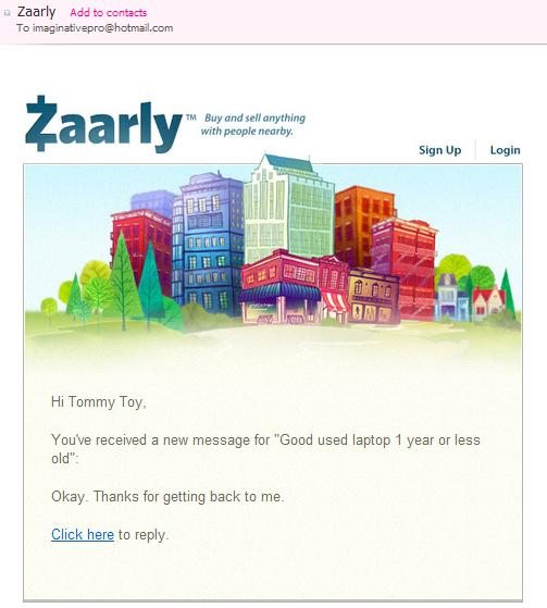 Zaarly email 2