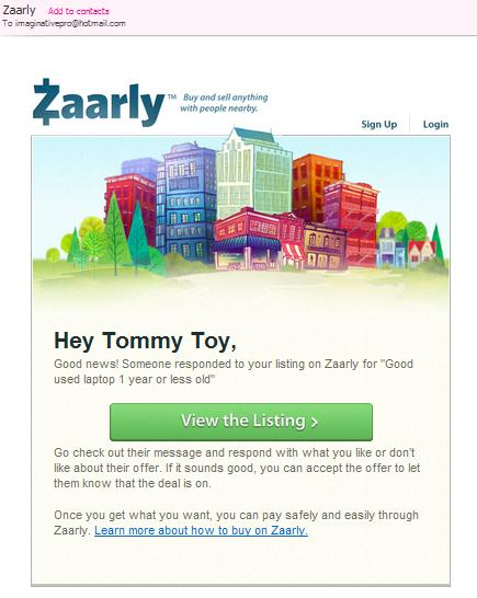 Zaarly email