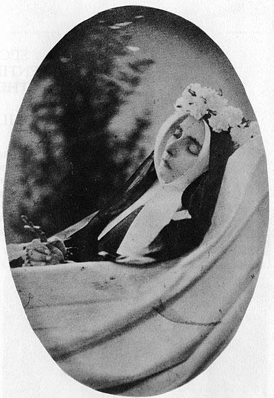 Bernadette Soubivous as she appeared after her her death before burial