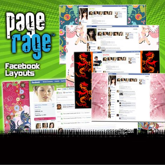 PageRage provides Facebook layouts or theme pages for Facebook users