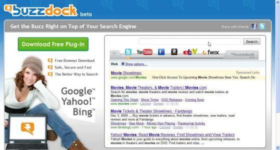 BuzzDock homepage