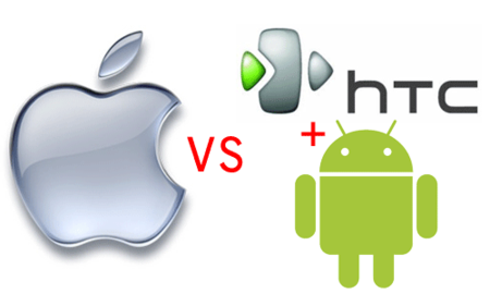 Apple versus HTC and Google's Android OS