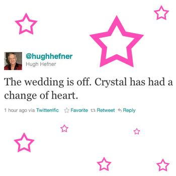 The wedding cancellation notificatin was a damn TWEET