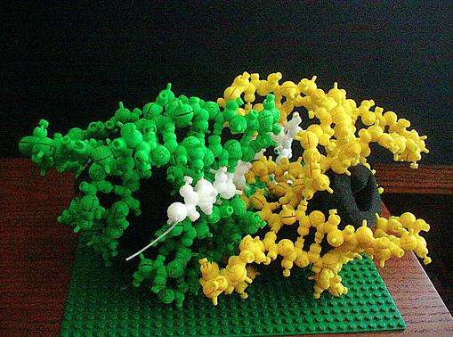 3D printed model of a molecule