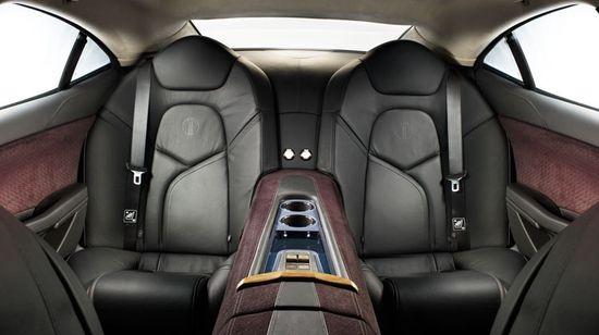 Fisker Karma rear seats