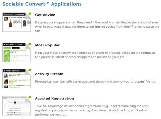Sociable Convert Applications