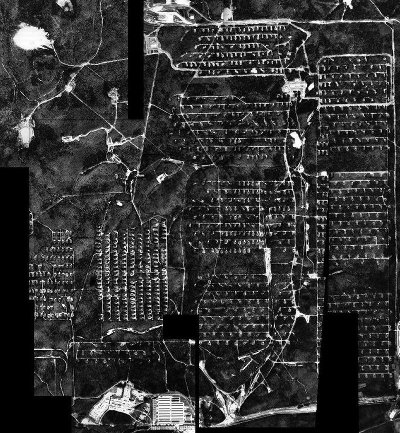 Anniston Chemical Agent Disposal Facility chemical weapons storage bunkers aerial view