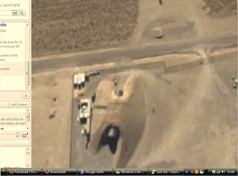 Aerial view of another S-4 underground facility entrance