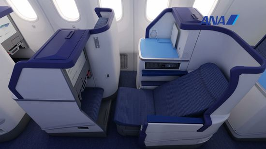 ANA's Boeing 787 Dreamliner first class seats are fully-reclinable for long haul flights