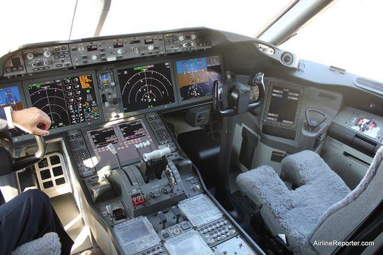 ANA's Boeing 787 Dreamliner cockpit interior