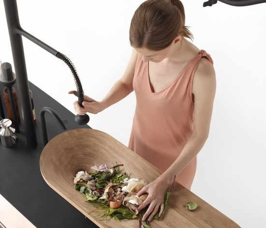 Microbial Home kitchen bio-digester means no more compost. Just throw your food right in the digester