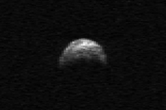The Arecibo radar telescope spotted asteroid 2005 YU55 back in April 2010 and captured the following ghostly image