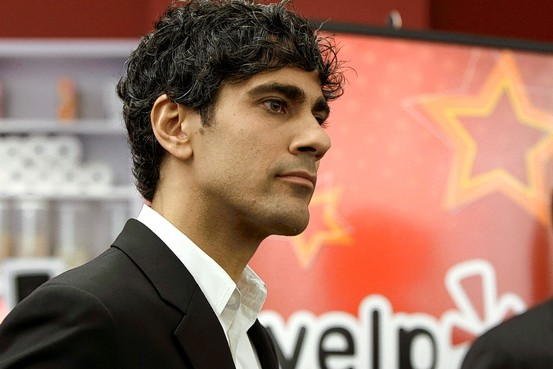 Yelp CEO and co-founder Jeremy Stoppelman at the company's Manhattan offices in October 2011