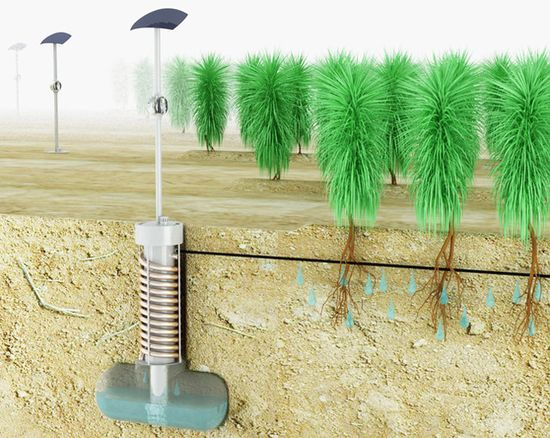 Edward Linnacre's Airdrop harvests moisture from dry air to water crops in arid regions 1