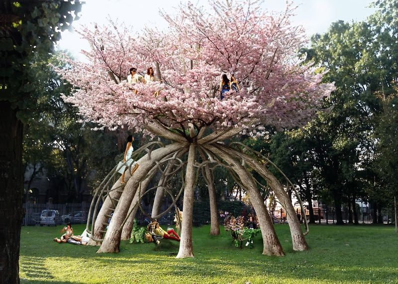 Visiondivision's 'The Patient Gardener' dome made from trees 1