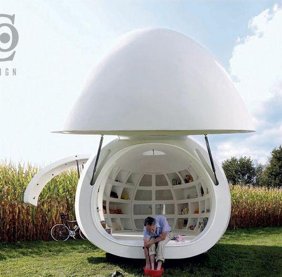 Blob dmvA Architecten, Antwerp, Belgium, 215 sq. ft.