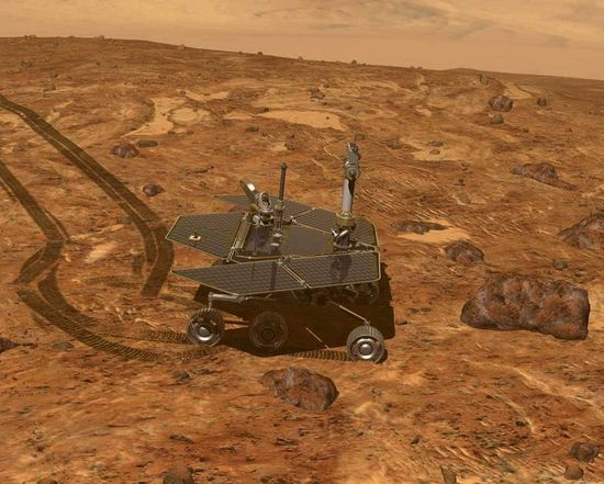 NASA Mars Exploration Rover or MER prior to the much larger Curiosity Rover