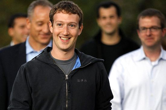 The hoodie attired Facebook CEO and co-founder Mark Zuckerberg